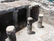 Original Greek columns in Ancient Thira.