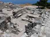 Ruins of Ancient Thira, Santorini, Greece.