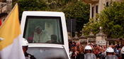 English: His Holiness pope Benedict XVI passing through Balzan a small village in Malta
