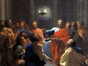 The Institution of the Eucharist by Nicolas Poussin, 1640