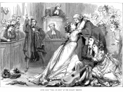 English: Engraving of Gilbert and Sullivan's Trial by Jury. Français : Gravure basée sur Trial by Jury de Gilbert et Sullivan.