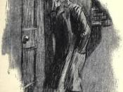 English: Artwork by Charles Raymond Macauley for the 1904 edition of The strange case of Dr. Jekyll and Mr. Hyde by Robert Louis Stevenson. Publisher: New York Scott-Thaw
