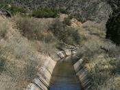La Canova acequia, near Velarde, New Mexico