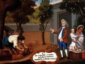 De español e india, produce mestizo (From a Spanish man and an Amerindian woman, a Mestizo is produced).