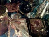English: Wiccan altar