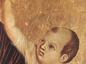 Duccio di Buoninsegna - Crevole Madonna (detail) - WGA06711