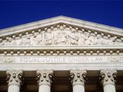 English: The inscription Equal Justice Under Law as seen on the frieze of the United States Supreme Court building
