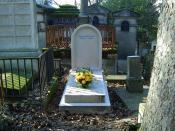 Photographie de la tombe de Pierre Bourdieu au cimetierre du père Lachaise