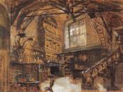 Эскиз декорации к опере Виндзорские кумушки. 1888