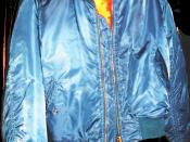 A modern fashion blouson/bomber jacket.