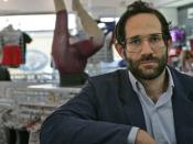 Dov Charney at American Apparel store
