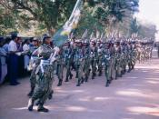 Parade in Killinochchi, 2002