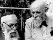 English: Martin Buber and Rabbi Binyamin in Palestine עברית: מרטין בובר ור' בנימין בארץ ישראל