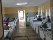 The isolation ward of Gulu Municipal Hospital, Gulu, Uganda, during an outbreak of Ebola hemorrhagic fever in October 2000
