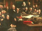 English: Lord Palmerston Addressing the House of Commons During the Debates on the Treaty of France in February 1860