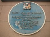 A plaque commemorating Rutherford's presence at the Victoria University, Manchester