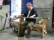 English: Waterford Crystal glass blower, Waterford Ireland