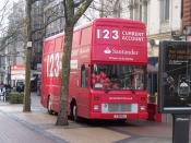 1 2 3 Current Account - Santander - red bus - New Street, Birmingham