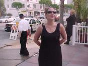 English: Astral Ocean Sales Manager Lysa Stone at Hustler Jail Babes Party (May 27, 1999)