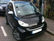 A picture of my own Smart car.