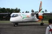 English: A Zest Airways Xian MA60, with tail number RP-C8892, arrives at the tarmac of Marinduque Airport in Gasan, Marinduque, Philippines. Tagalog: Isang Xian MA60 ng Zest Airways, na may bilang ng buntot RP-C8892, ay dumating sa rampang pampaliparan ng