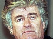 English: Radovan Karadžić in Moscow on 3 March 1994. Suomi: Radovan Karadžić Moskovassa 3.3.1994. Српски / Srpski: Радован Караџић у Москви, 3. марта 1994.