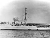 English: Photo #: NH 85019 USS PCS-1387 Photographed circa the later 1940s. This ship was renamed Beaufort (PCS-1387) in February 1956. Courtesy of Donald M. McPherson, 1976. U.S. Naval Historical Center Photograph.