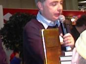 English: Eoin Colfer, Irish writer, at the Helsinki Book Fair in 2001 Suomi: Irlantilainen Eoin Colfer Helsingin kirjamessuilla 2001