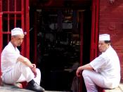 Cooks at a Manhattan Chinatown restaurant taking a break