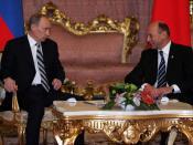 English: BUCHAREST. With Romanian President Traian Basescu. Русский: БУХАРЕСТ. С Президентом Румынии Траяном Бэсеску.