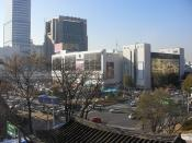 Dongdaemun Market, located in Jung-gu, Seoul, the biggest market in South Korea.