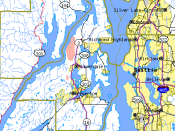 map of Kitsap County and surrounding area