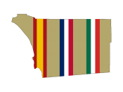 English: Map of San Diego County with the flag colors of Spain, United States, and Mexico imposed over it.