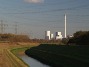 English: River Emscher in the Ruhr area near Herne and Herten