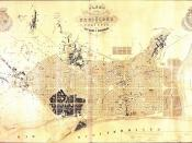 Enlargement map of Barcelona. Map of the neighborhoods of the city of Barcelona and project for its improvements and enlargement, 1859.