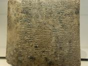 Annual balance sheet of a State-owned farm, drawn-up by the scribe responsible for artisans: detailed account of raw materials and workdays for a basketry workshop. Clay, ca. 2040 BC (Ur III).