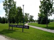 English: Dr. Gerhard Herzberg Park, a public park in the College Park subdivision of Saskatoon, Saskatchewan, Canada.