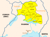 Ugandan districts affected by Lords Resistance Army