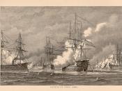Bataille de Lissa (1866). Gravure parue dans le Harper's Weekly (New-York) du 1er septembre 1866