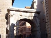 The arch of Gallienus was the old Porta Esquilina in the Servian Wall. Here started the intra moenia portion of via Labicana.