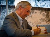 Mario Vargas Llosa in Pietrasanta, Toskana