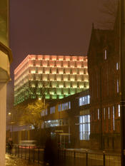The University of Liverpool's Active Learning Lab on Brownlow Hill various different colours