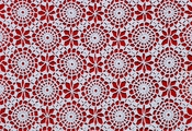 English: Detail of crochet table-cloth. Français : Détail d'un napperon au crochet.
