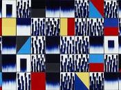 Untitled ceramic tile wall by Jun Kaneko