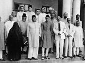 English: At the All India Muslim League Working Committee, Lahore session, March 1940