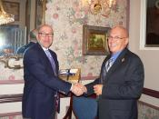 Ambassador Jacobson with the Honourable Gordon Barnhardt, Lieutenant Governor of Saskatchewan