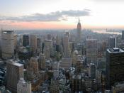 English: Looking south from Top of the Rock, New York City {| cellspacing=
