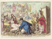 The man of feeling, in search of indispensibles; - a scene at the little French milleners' (William V, Prince of Orange), by James Gillray (died 1815), published 1800. See source website for additional information. This set of images was gathered by User: