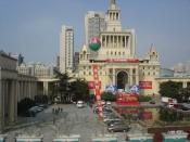 The Shanghai International Exhibition Centre, an example of Soviet neoclassical architecture in Shanghai