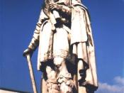 English: Statue of Alfred the Great in Wantage, England (by DJ Clayworth). Photo lightened 15/12/06.